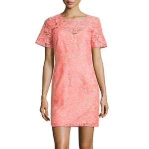 Veronica Beard Embroidered Shift Dress in Pink